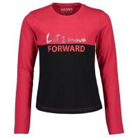 blue seven Langarmshirt Let´s move forward in rot
