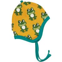 maxomorra gefütterte Babymütze mit Fröschen Helmet Velour FROG