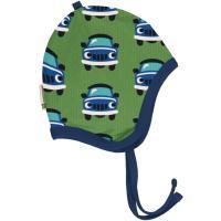 maxomorra gefütterte Babymütze mit Autos Helmet Velour CAR