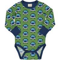 maxomorra Baby Langarm Body mit Autos Body CAR