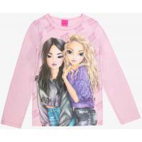 Top Model Langarmshirt mit Miju und Christy 85066 in rosa