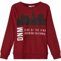 name it Sweatshirt nkmVILDAR Chili Red