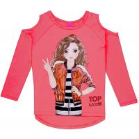 Top Model Langarmshirt mit Cut-Outs 85074 in Coral