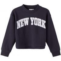 name it Mädchen Short Sweatshirt nkfOKA Dark Navy