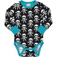 maxomorra Langarm Body mit Skeletten Halloween Collection SKELETON