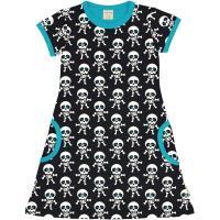 maxomorra Kurzarmkleid mit Skeletten Halloween Collection Dress SS SKELETON